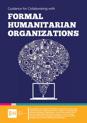 Guidance for Collaborating with Formal Humanitarian Organizations